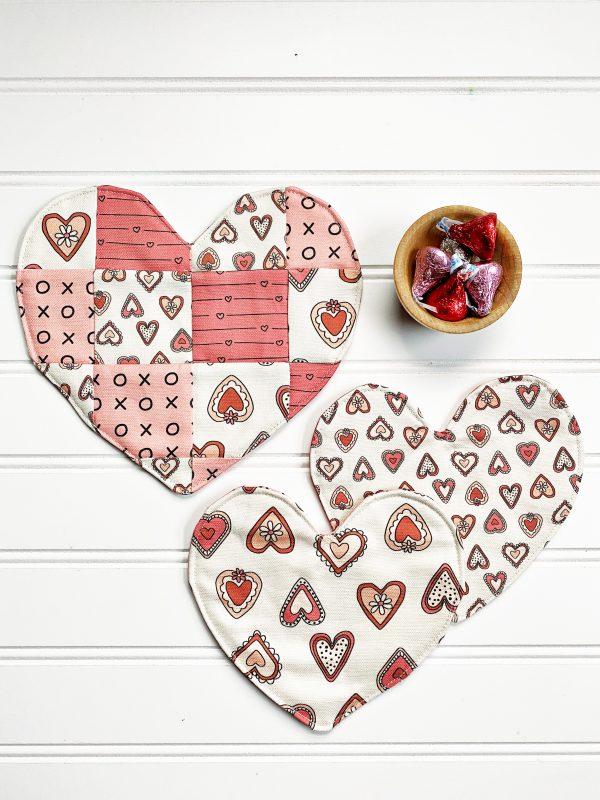 Valentine Mug Rug - Finish Products