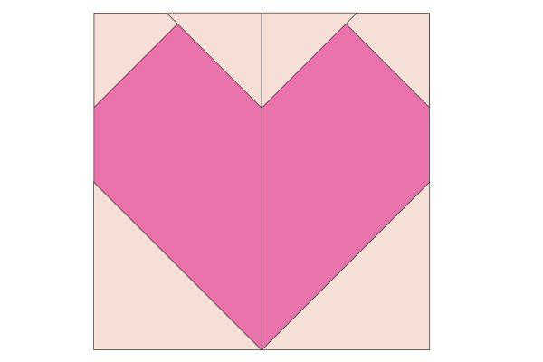 Patchwork Heart Pincushion - Illustration