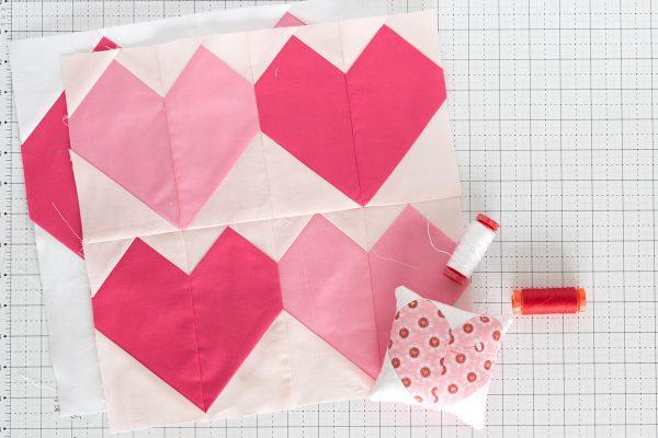 Patchwork Heart Pincushion