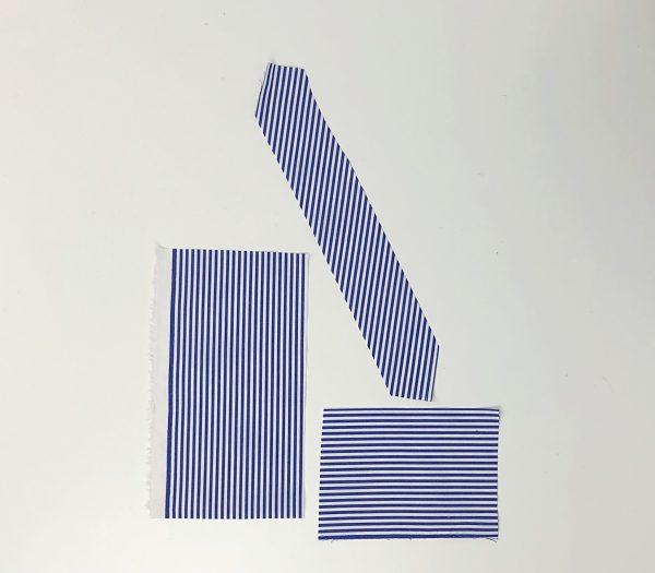 Detachable Collar Tutorial: fabric grainline
