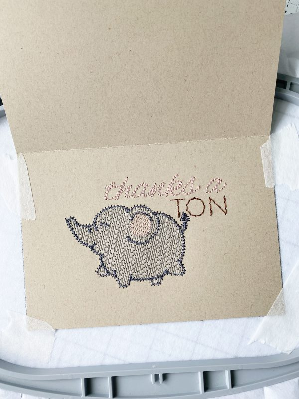 Embroidered Greeting Cards: Stitch out the design