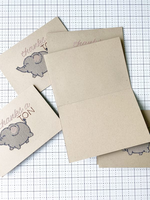 Embroidered Greeting Cards: Finish Cards