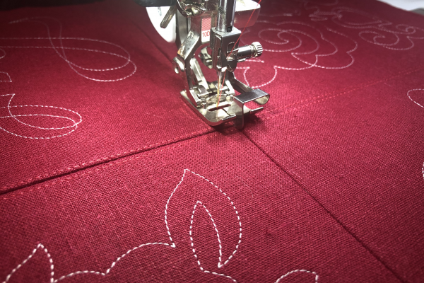 Embroider Valentine's Day Table Topper