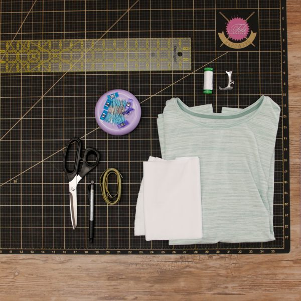 T-Shirt Upcycle Materials - MTC_Crew_Neck_to_V_Neck_03_Supplies_BERNINA_WeAllSew_Blog_1080x1080px
