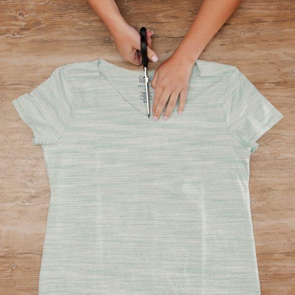 T-Shirt Upcycle - MTC_Crew_Neck_to_V_Neck_14_Clip_shirt_angle_BERNINA_WeAllSew_Blog_1080x1080px