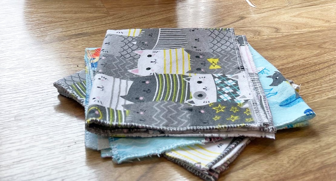 Sewing Reusable Towels