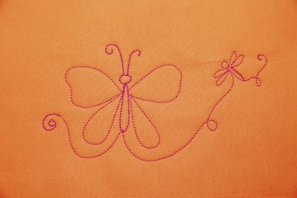 Learn to Free-motion Quilt - Butterflies