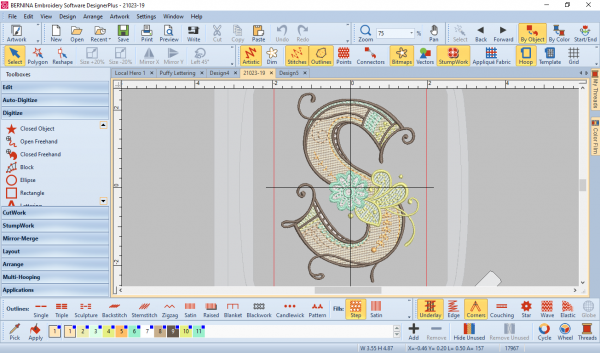 Multicolor Embroidery:Opening the design in the software