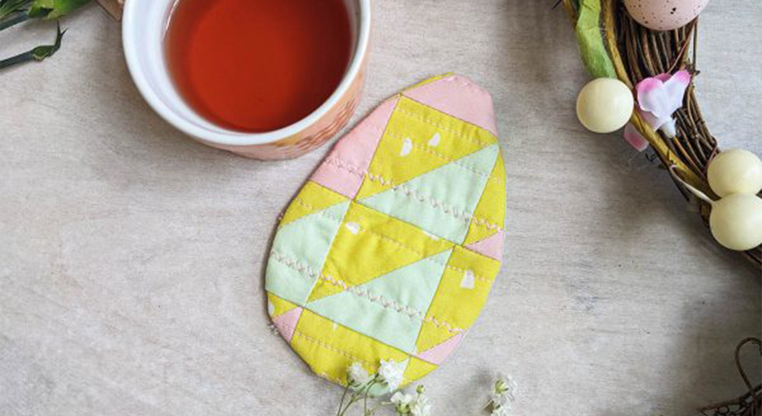 How to Sew Easter Egg Coasters BERNINA WeAllSew Blog Feature 1100x600