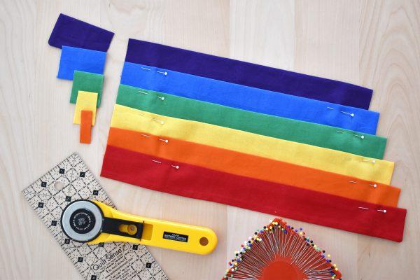 Rainbow Door Hanger by Erika Mulvenna for WeAllSew