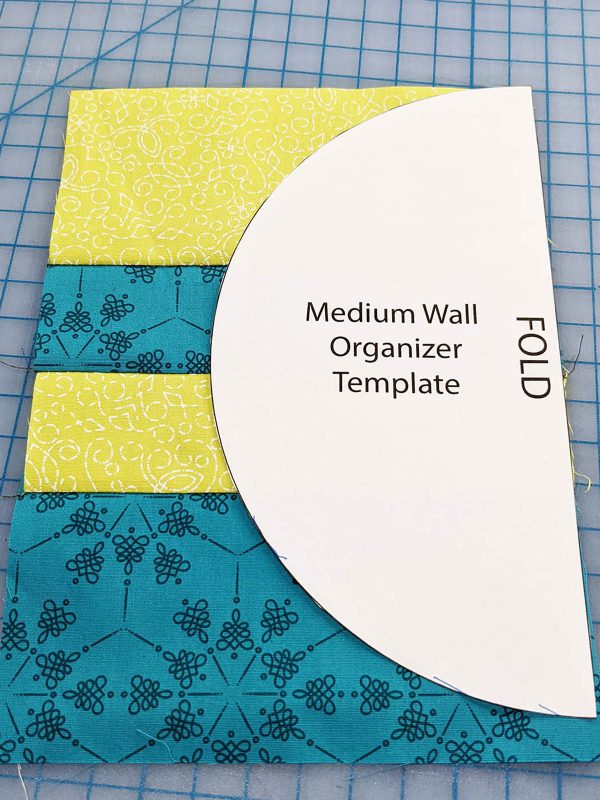 Wall Organizer Tutorial BERNINA 1200 x 1600_Trace Template on Pocket Med Organizer