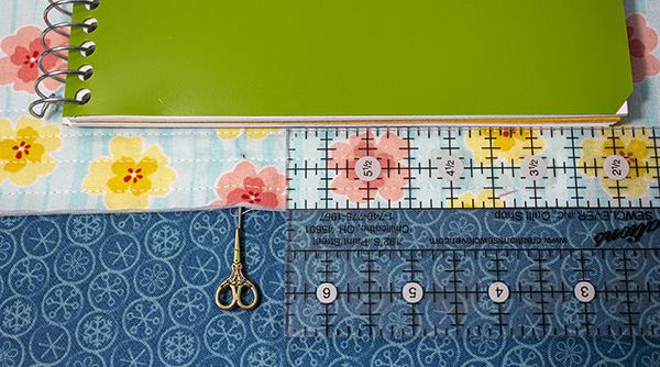 sew a notebook cover