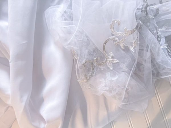Fabric from Deconstructed Wedding Dress