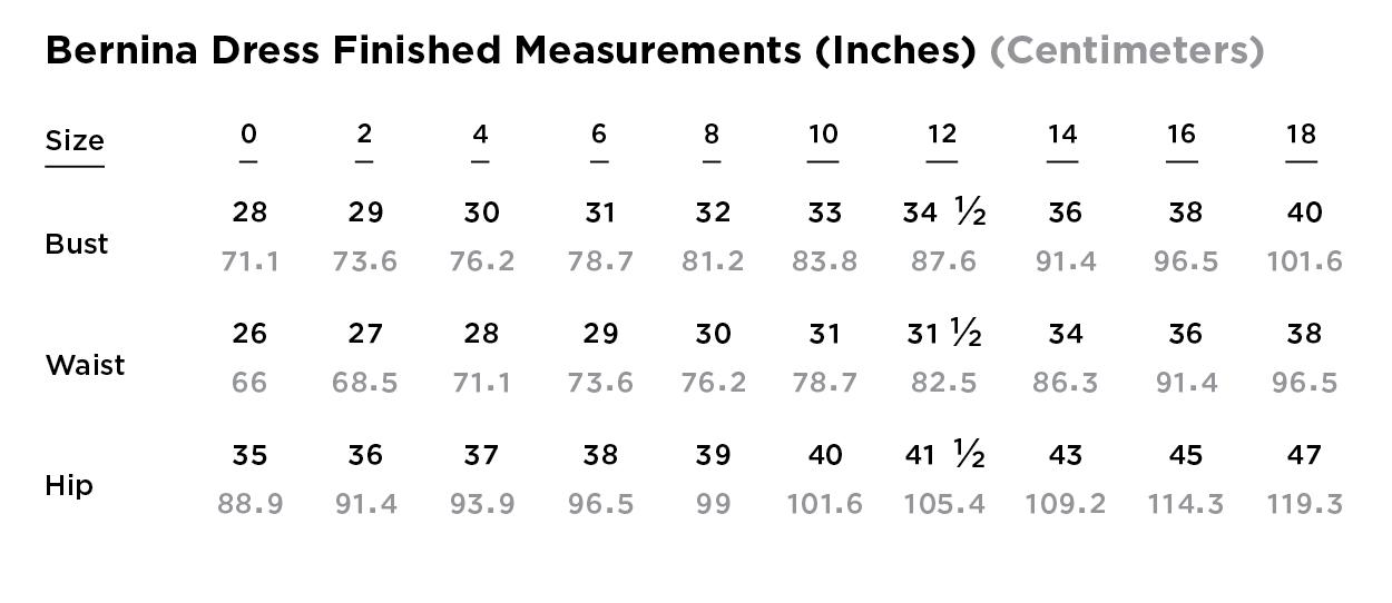 Dress Measurements Grainline Studio Sew Along the BERNINA blog WeAllSew