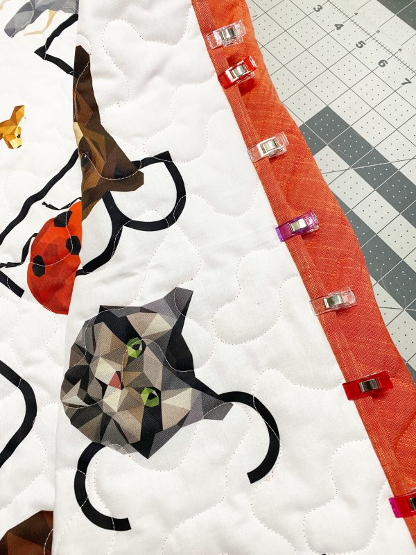 Sewing and Quilting a Wholecloth Baby Quilt: Adding the Binding