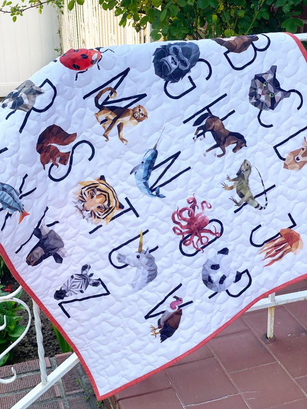 Sewing and Quilting a Wholecloth Baby Quilt: Finished product