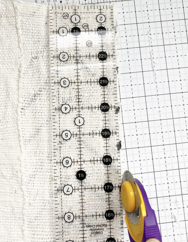 Sewing with Authentic Mud Cloth: Trim the Edges and the Corners