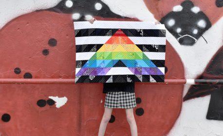 Straight Ally Pride Quilt Tutorial part 2 by Erika Mulvenna