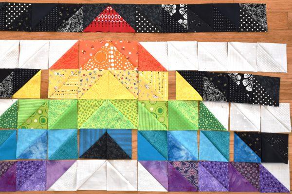 Straight Ally Pride Quilt Tutorial by Erika Mulvenna