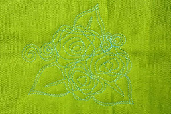 Focal Point Rose motif