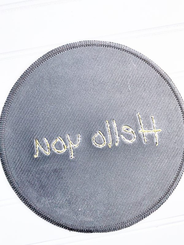 How to Embroider a Mouse Pad: Finish Product
