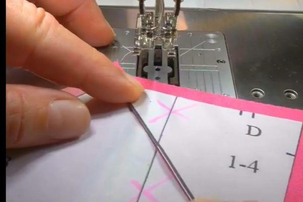 Gemstone block freezer paper piecing BERNINA WeAllSew 600 x 400 MJ Kinman