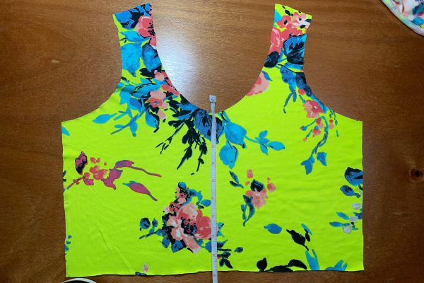 Adding a faux placket - measuring the bodice