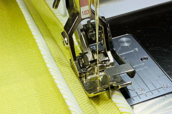 final binding stitching