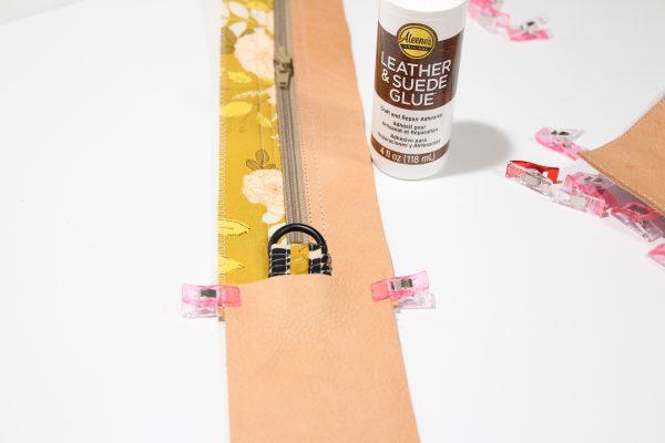 Glueing Zipper Wrap Panel