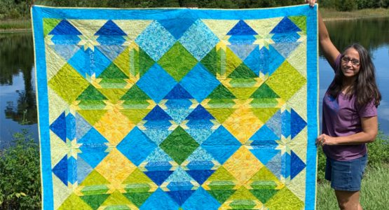 Designing, Sewing And Quilting A Quilt On My BERNINA 570QEE