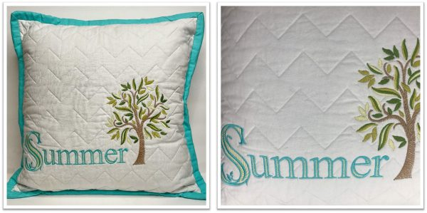 Quilted Backgrounds with Embroidery