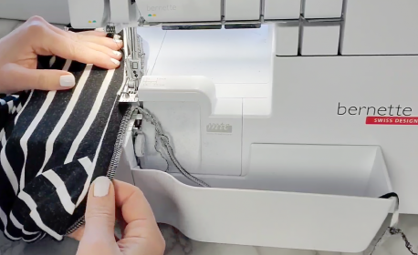 Tips for Sewing a Basic Tee - Neckband BERNINA WeAllSew Blog Feature 1100x600
