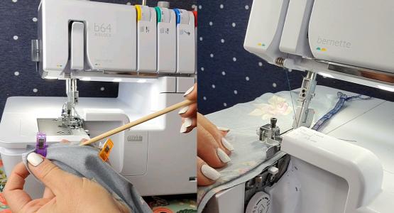 Tips for Sewing a Basic Tee - Serging a Blind Hem BERNINA WeAllSew Blog Feature 1100x600