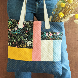 Autumn Flannel Tote Bag BERNINA WeAllSew Blog Feature 1100x600